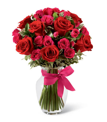 birthday flowers for june roses - Red Garden Rose Bouquet