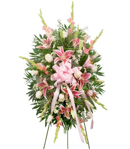 Standing Flower Sprays Are Displayed On An Easel And Typically In A Prominent Position Near The Casket