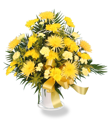 Sunshine Funeral Flower Arrangement
