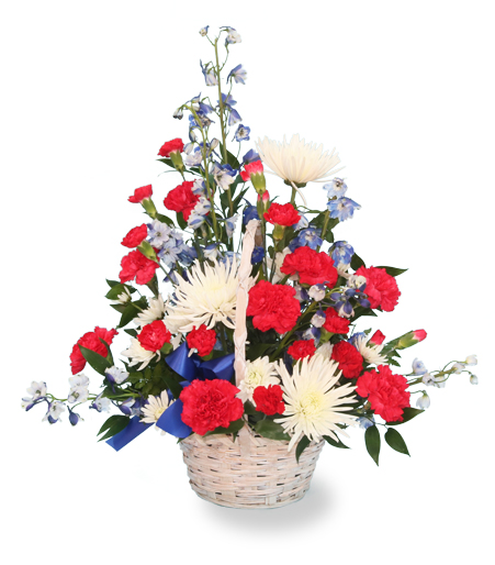 The Patriot Flower Basket Arrangement