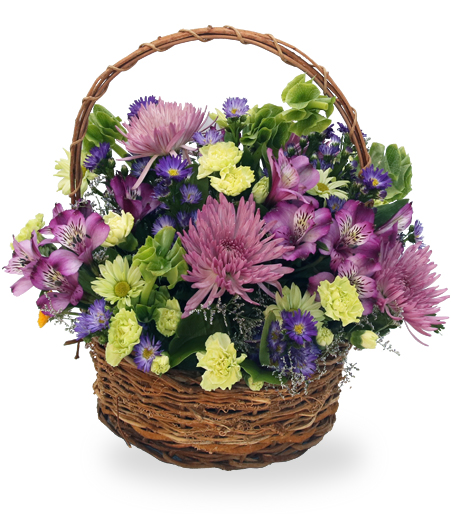 The Pastel Flower Basket