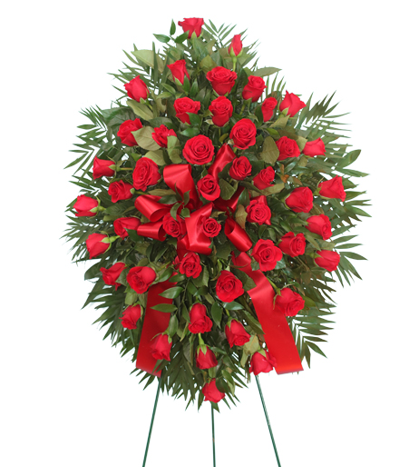 Bountiful Red Rose Spray