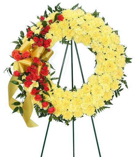 Always Remembered Flower Wreath