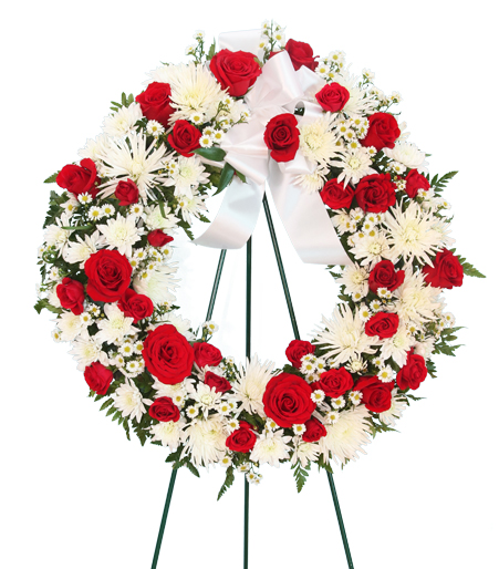 Bold and Beautiful Funeral Wreath