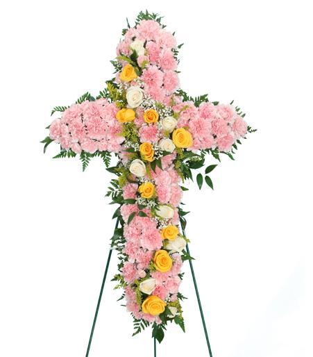 Forever in Pink Flower Cross