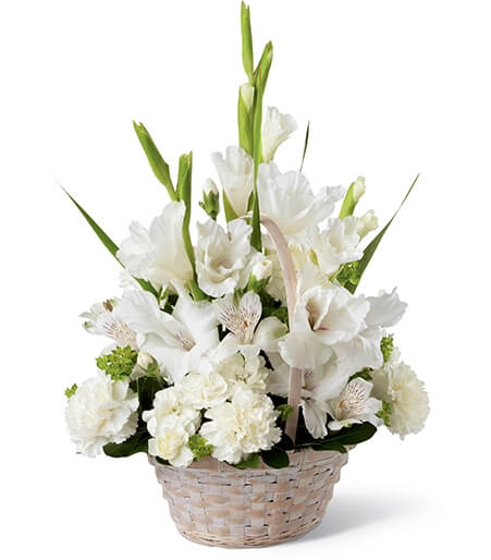 White Funeral Flower Arrangements
