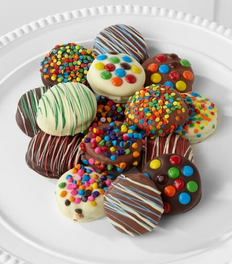 Golden Edibles™ Birthday Belgian Chocolate-Dipped Oreo® Cookies