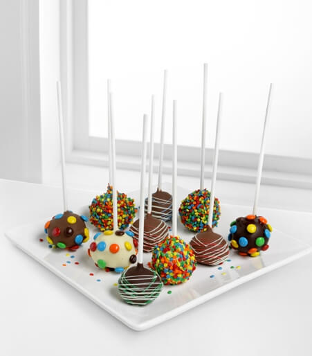 Golden Edibles™ Birthday Belgian Chocolate-Dipped Cake Pops