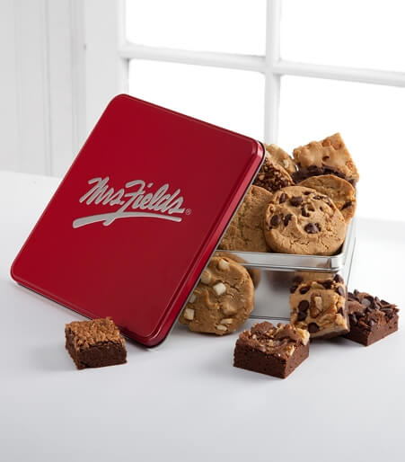 Mrs. Fields®  Classic Tin with Brownie and Cookie Assortment