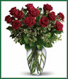 A dozen gorgeous red roses are the perfect romantic gift to send to the one who's always on your mind and in your heart. Say
