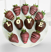 Chocolate Dip Delights™ Love Berry Gram Belgian Chocolate Covered Strawberries - 12-piece