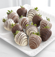 Chocolate Dip Delights™ Classic Real Chocolate Strawberries - Single Dipped - 12-piece
