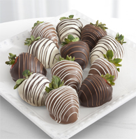 Chocolate Dip Delights™ Classic Real Chocolate Strawberries - Double Dipped - 12-piece
