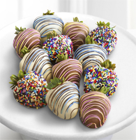 Chocolate Dip Delights™ Sweet Celebrations Real Chocolate Strawberries - Double Dipped-12pc