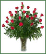 Two Dozen Red Roses Arranged